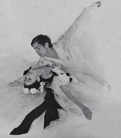 Margot Fonteyn and Rudolf Nureyev in La Dame aux Camelias photographed by Cecil Beaton, 1963.