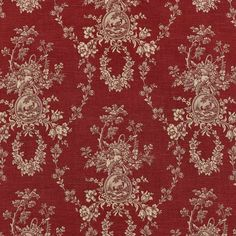 Waverly Country House Toile Red and cream Fabric. very French country, very gorgeous! French Country Kitchens, French Country Bedrooms, French Country Decorating, Country Farmhouse, Cottage Decorating, Cottage Design, French Farmhouse, French Decor, Drapery Panels