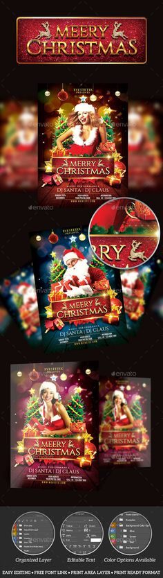 Magic Christmas Flyer By Stylewish On Creativemarket  Layout