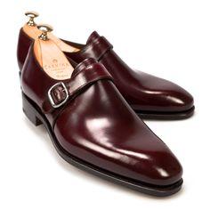 6c93565dd PALA LISA CON HEBILLA EN SHELL CORDOVAN BURDEOS... Zapatos Hebilla Hombre
