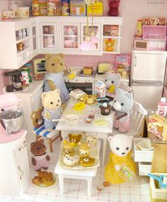 Kitchen Cabinets Set For Sylvanian Families Calico Critters Dolls Limited Time!!