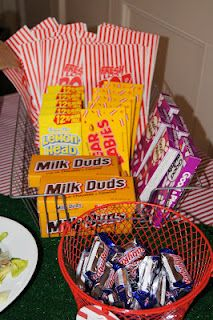 Lady's Makes and Bakes: A Vintage Baseball-Themed Baby Shower! Concession stand snacks