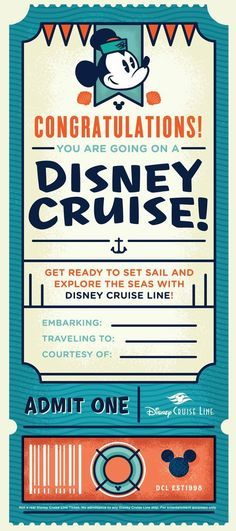 Organized Chaos: We are going on a Disney Cruise! Disney Cruise Wedding, Disney Fantasy Cruise, Disney Cruise Line, Cruise Weddings, Disney Word, Disney Diy, Disney Dream, Cruise Tickets, Disneyland Tickets