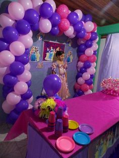 Princess Birthday Party Balloon Arch And Decorations Christian Favors Display Scene Setters