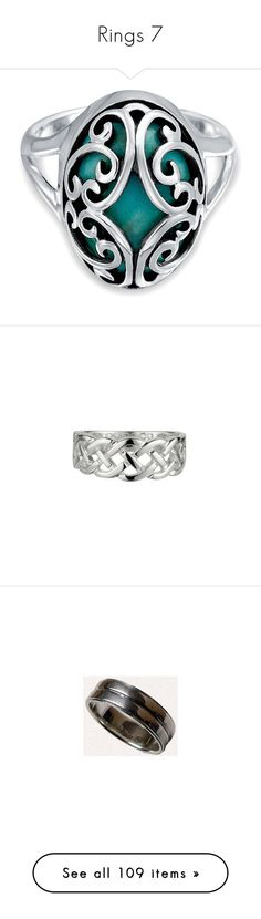 """""""Rings 7"""" by ltspork ❤ liked on Polyvore featuring jewelry, rings, blue, green turquoise ring, cage rings, dome ring, blue jewelry, blue turquoise jewelry, supernatural and accessories"""