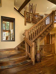 Slate Tile Floor, Wish I Never Put Carpet On The Stairs :(