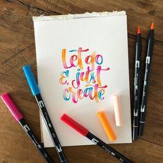 Let go and just create!  📷: @frolleinkapunktschreibt 