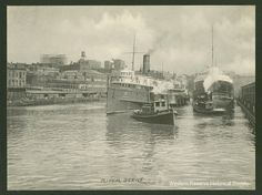 Terrific image of the Cuyahoga River ca. 1900s.