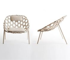 Coracle lounge chair by Benjamin Hubert