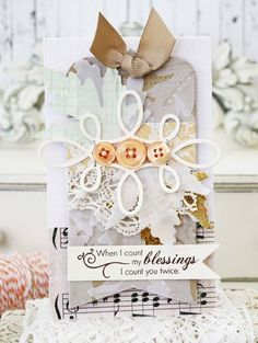 Count My Blessings Card by Melissa Phillips for Papertrey Ink (September 2014)