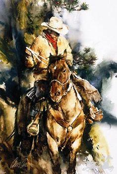 Chris Owen A Cowboys Morning Native American Art, Western Art, and Wildlife Art. Fine art prints and posters framed, custom framing Chris Owen, Arte Equina, Cow Girl, Cowboy Art, Southwest Art, Le Far West, Horse Drawings, Equine Art, Western Art