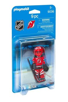PLAYMOBIL NHL New Jersey Devils Goalie Playset Kids Boys Fun Hockey Game Toy New #PLAYMOBIL #NewJerseyDevils