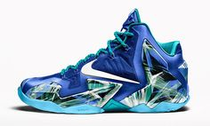 "Nike iD adds ""Everglades"" Option for LeBron 11 - EU Kicks: Sneaker Magazine Lebron 11, Nike Lebron, Lebron James, Sock Shoes, Cute Shoes, Awesome Shoes, Sports Shoes, Basketball Shoes, James Shoes"