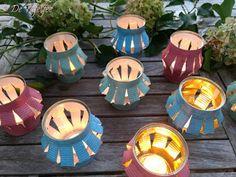 De Tafelfee: Rustieke sfeerlichtjes Tea Lights, Summer Time, Candles, Decoration, Table, Decor, Daylight Savings Time, Tea Light Candles, Candy