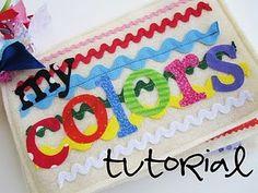 Colors fabric scraps book! So fun!