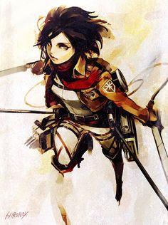 Mikasa Ackerman in Attack on Titan - Shingeki no Kyojin #AoT #SnK