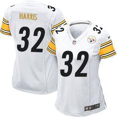 Nike Game Franco Harris White Women s Jersey - Pittsburgh Steelers  32 NFL  Road Mike Webster 596b77dab