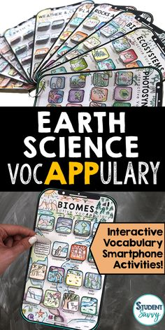 Earth Science Vocabulary Activities - New Sites Teaching Vocabulary, Vocabulary Activities, Science Resources, Science Lessons, Teaching Science, Vocabulary Words, Teaching Tools, Teacher Resources, Science Activities