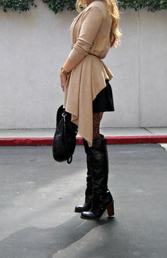 Sub a wedge boot and alt tights.