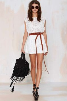 Oasis Lace Romper - Rompers + Jumpsuits | Clothes | All | From Faraway Nearby