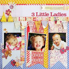 "Soleil Collection on Blitsy for $12.80 (reg $16.00).  Pack includes 12 (12"" x 12"") double-sided papers, one sheet coordinating alphabet stickers and one sheet coordinating element stickers. Acid & lignin free. 3 Little Ladies 