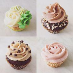 [Homemade] Lime chocolate/coffee/hazelnut peanut butter and lemon/raspberry cupcakes