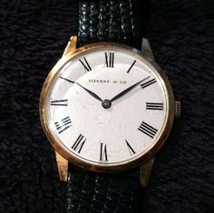 Tiffany & Co. Vintage 18k Gold Universal Geneve Mens Watch***