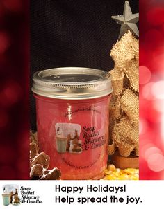You'll love our Christmas Splendor Candle sharing the season with you in your home. Our Candles range from a modest $4.50 to an ENORMOUS $125.00 See our wwebsite for details. Special Sale till December 5th 25% off #BlackFriday #SmallBusinessSaturday #CyberMonday www.soapbucketskincare.com
