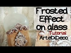 DIY Εφέ Αμμοβολής και πηλός σε μπουκάλι! Frosted glass effect and clay o... Frosted Glass, Recycling, Clay, Youtube, Bottle, Reuse, Biscuit, Crafts, Decor