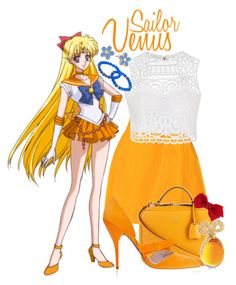 """""""   Sailor Venus ~ Sailormoon Crystal   """" by freezespell ❤ liked on Polyvore featuring Oscar de la Renta, Ally Fashion, Mark Cross, Marc by Marc Jacobs, Dee Berkley and Accessorize"""
