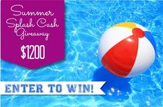 Summer Splash Cash Giveaway {$1200} - Design Dazzle