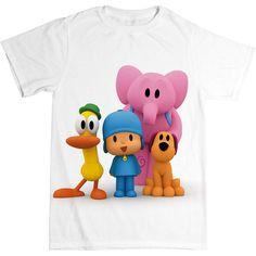 ADD A NAME Pocoyo Elly Pato Custom t-shirt Personalize Birthday