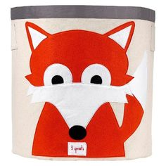"""Target 3 Sprouts Canvas Extra Large Round Storage Bin - Fox - 17"""" dia. x 17.5""""h - $19.99"""