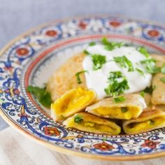 Curry Perogies. The perfect blend of India and Ukraine.