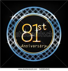 black background and blue circle 81st anniversary for business and various event