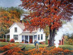 Autumn scene (John Sloane artist)