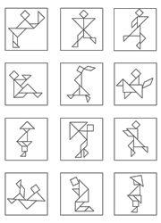 Modèles de personnages pour jeu tangram à imprimer en noir et blanc Tangram Printable, Indigenous Games, Tangram Puzzles, Shadow Art, Stem Science, Math For Kids, Brain Teasers, Educational Activities, Math Games