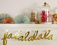 Cute 'falalalala' banner by Oh Joy #xmas #holidays