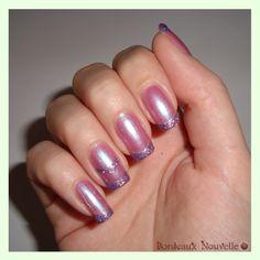 Chevron con Glitter en Pink