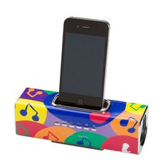 Inspired by patient art, this iPod Docking Station links to your devices as well as charging your iPod or iPhone while it's docked. ALL PROCEEDS GO TO ST. JUDE'S CHILDREN'S RESEARCH HOSPITAL!