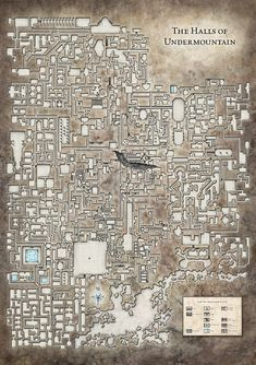 Underdark map Halls of the Undermountain level sm (saved) Dark Fantasy, Fantasy City, Fantasy Map, Dungeons And Dragons Homebrew, D&d Dungeons And Dragons, Rpg Pathfinder, Dwarven City, Building Map, Building Toys