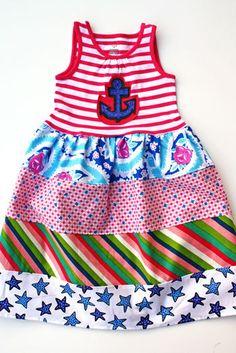 Sailor Girl dress ...Limited edition......Momi boutique. $45.00, via Etsy.