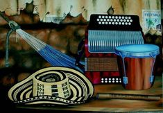 The three principal instruments represent the different facets to the Colombian identity. The accordion, The guacharaca and the caja drum Music Videos, Basket, Youtube, Villa, Tadashi, Popular, Crossover, Gabriel, Drum
