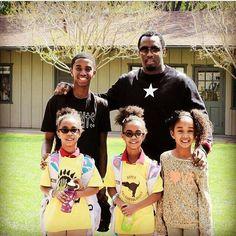 Diddy Black Celebrity Kids, Black Celebrity Gossip, Celebrity Babies, Celebrity Couples, Black Love, Black Is Beautiful, Black Music Artists, Sean Combs, African American Beauty
