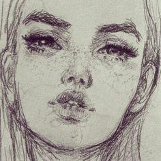 F-F-Free-styling in old Sketchbook #myfavoritekind #freestyle #drawing #sketch #freckles
