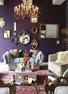 Maison dark purple living room, benjamin moore shadow More How To Buy A Persian Rug A Persian rug is Benjamin Moore Shadow, Benjamin Moore Purple, Plum Walls, Dark Purple Walls, Room Wall Colors, Wall Colours, Bedroom Colors, Accent Colors, Paint Colors