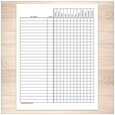 A printable bill payment tracker log to help you keep track of paying your bills every month so that you don't miss or forget a payment for the entire year. Do you have a lot of bills? Do you dread pa
