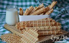 Вафли родом из детства   Кулинарные рецепты от «Едим дома!» Ice Cream Decorations, Wafer Cookies, International Recipes, Biscuits, Cereal, Sandwiches, Cooking Recipes, Baking, Breakfast