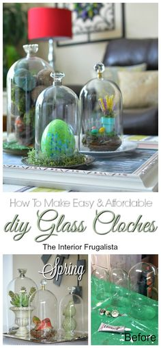 How To Make Easy and Affordable DIY Glass Cloches | The Interior Frugalista | #InspirationSpotlight