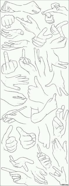 Line art drawings sketches hand reference Ideas Drawing Skills, Drawing Lessons, Drawing Techniques, Drawing Tips, Drawing Sketches, Painting & Drawing, Art Drawings, Drawing Hands, Design Reference